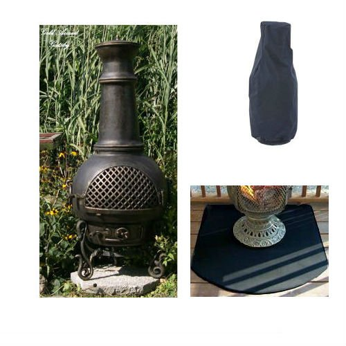 Blue Rooster Gatsby Style Wood Burning Outdoor Metal