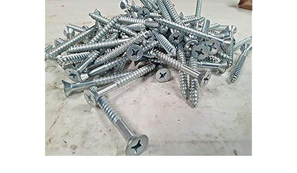 "Steel Wood Screw MS35492111 1//4/"" x 2 1//2/"" Phillips Head Box of 100"
