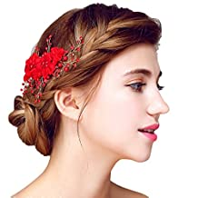 YAZILIND Headdress Beauty Women's Bridal Wedding Hair Comb Barrette Party Rhinestones Flower Alloy Women Hair Accessories