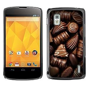 SKCASE Center / Funda Carcasa - Caramelo de Brown Alimentos;;;;;;;; - LG Nexus 4 E960