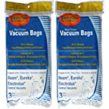 6 (6 Gallon) Allergy Central Vacuum Bags For Beam, Eureka, Electrolux, Singer, Star-Brute, Kenmore, Mastercraft, Frigidaire, White Westinghouse, Heatilator, Nutone, Aggresor, Astrovac, Husky, Star-Brute, Broam, Cyclovac, Dynavac, Smart, Soluvac 44186