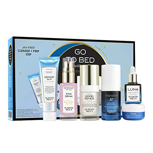 Sunday Riley Go To Bed With Me Complete Anti-Aging Night Routine Kit, 1 ct.