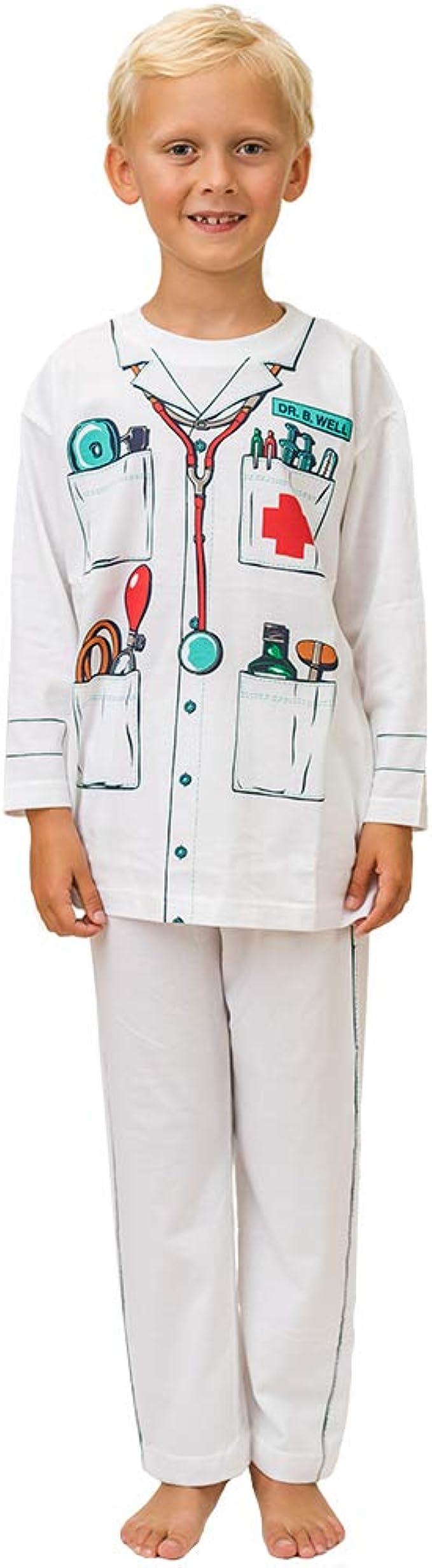 Pijama de Médico y Ropa Casera Divertida (7-8 Anõs): Amazon.es ...