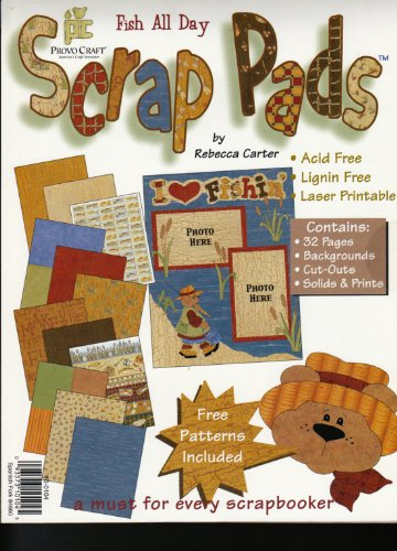 Provo Craft Scrap Pad Fish All Day 32 Pages - 8.5