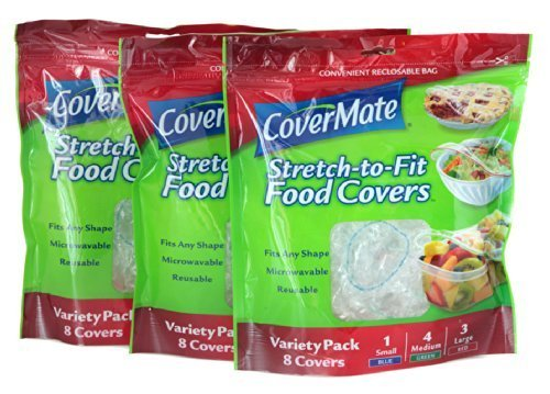 (Covermate Stretch-to-fit Food Covers 3 pack)