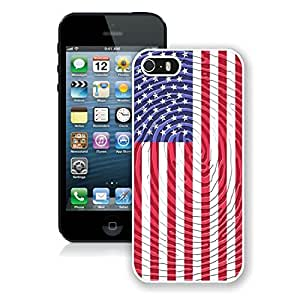 Fashionable American Flag 15 iPhone 5 5s 5th Generation Case in White