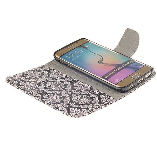 Carcasa IFEDA para cajas de cuero de la PU Samsung Galaxy S6 suave de las chicas de hadas de la mariposa de patrón de esquí de imitación de brillo de Bavaria de protección de la carcasa protectora fun #12