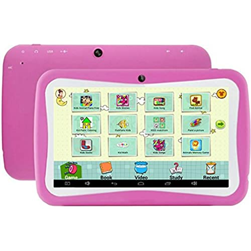 7 inch Kids Tablet PC RK3126 Quad Core 8G ROM Android 5.1 With Children Educational Apps Dual Camera PAD-Pink Coupons