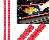 silicon oven rack edge guard - 2 PACK Silcone Oven Rack Guard Edge Liner Cover, Food Grade