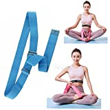 Price Xes Yoga Stretching Seat Strap w/Adjustable Metal Buckle, SUPER ELASTIC Physical Therapy Fitness Belt, Resistance Exercise Band Lengthen Cross Legged Meditation Leg Stretcher Workout Trainer