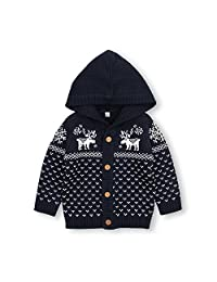 MiMiXiong Baby Sweater Boy Girl Christmas Costume Cardigan Jumpsuit