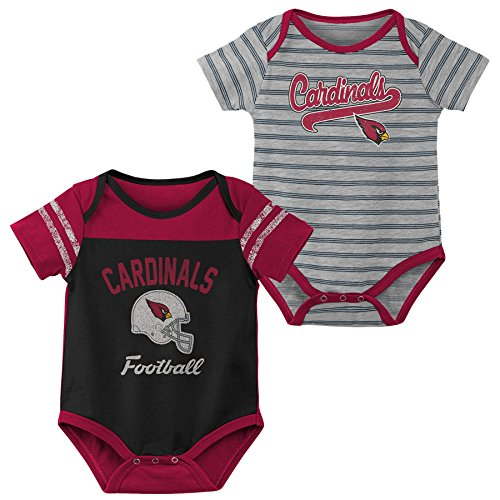 Outerstuff NFL NFL Arizona Cardinals Newborn & Infant Dual-Action 2 Piece Bodysuit Set Black, 0-3 Months