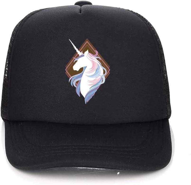 aa4de0657 Unicorn Trucker Hat, Baseball Cap for Kids Girls with Mesh Back