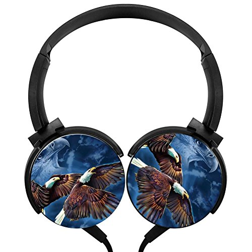 Ghost Eagle Stereo Headphones Lightweight With Mic Over Ear, Funny Headsets For Iphone, Ipad, Smartphone And Tv 3.5Mm -