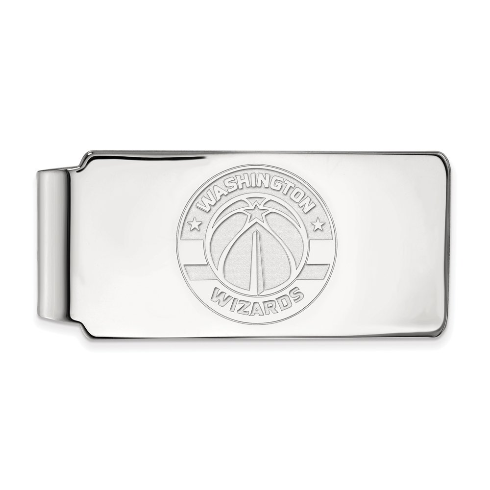 NBA Washington Wizards Money Clip in Rhodium Plated Sterling Silver