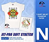 JET-PRO®SS JETPRO SOFSTRETCH HEAT TRANSFER PAPER 8.5 X 11'' CUSTOM PACK 50 SHEETS