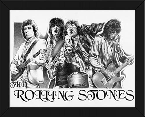Mick Jagger and Keith Richards Rolling Stones Canvas Pictures Wall Art Prints