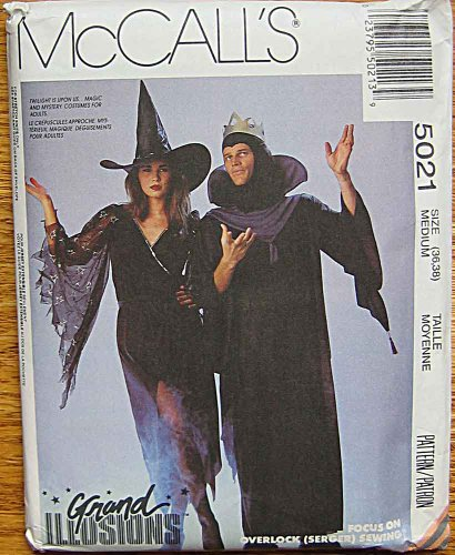 McCall's 5021 Grand Illusions Sewing Pattern ~ Adult Halloween Costumes, Sabrina Witch Dress, Men's Mezmir Wizard Robe, Size Medium (Halloween Illusion Costumes)