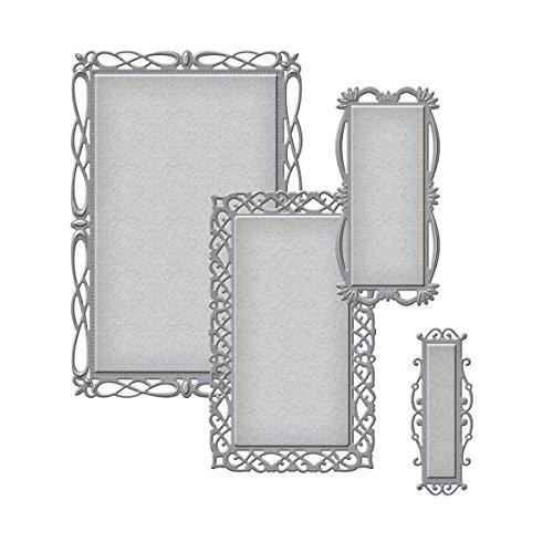 Spellbinders S5-211 Nestabilities 'Romantic Rectangles Two' Scrapbooking Template 2' Rectangle Paper Label