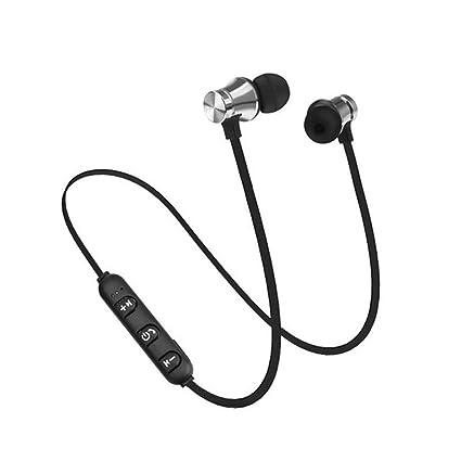 DERKOLY Auriculares inalámbricos Bluetooth Auriculares deportivos: Richer Stereo Bass Auriculares intrauditivos magnéticos con micrófono,