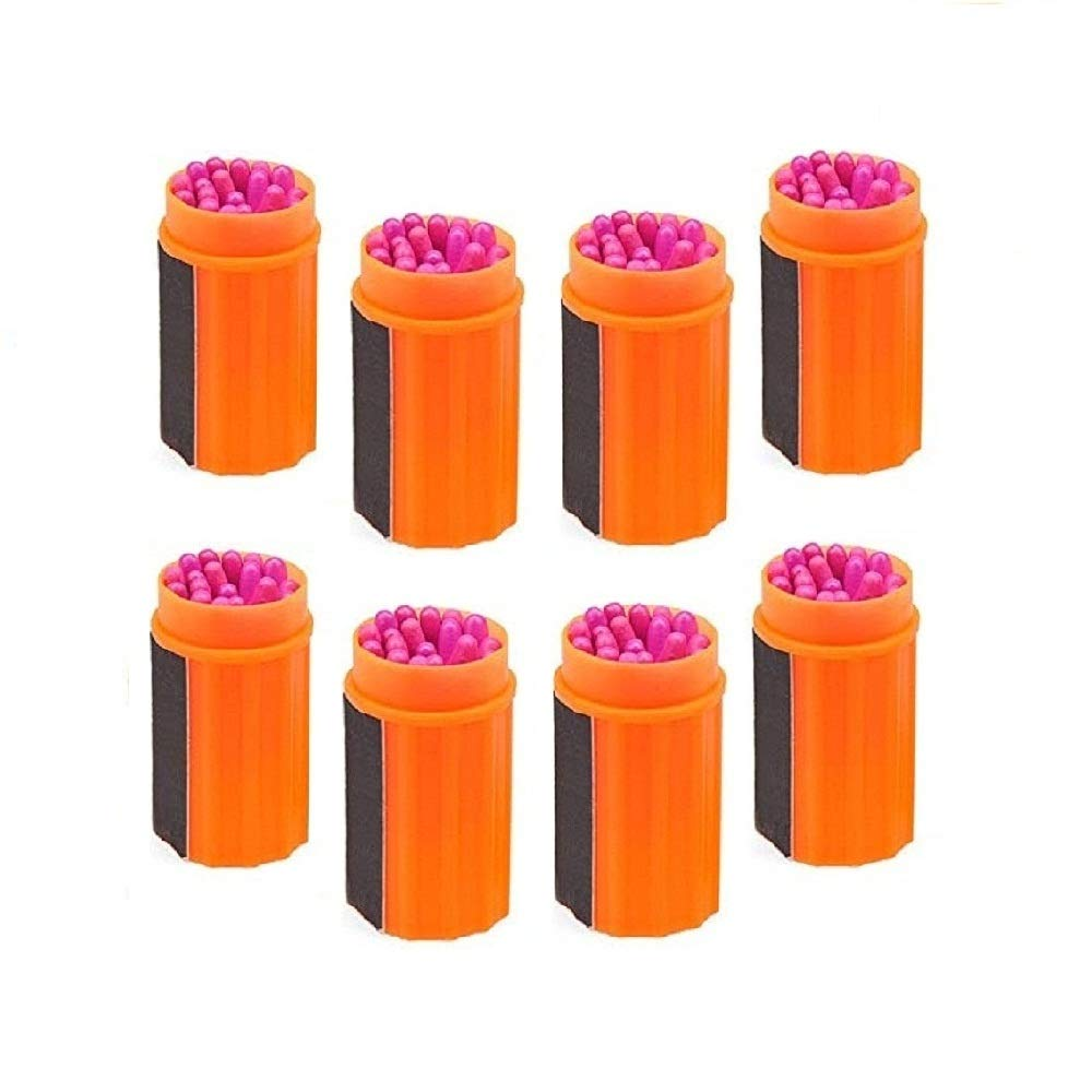 GSMWYY Storm Matches Waterproof and Windproof Match Field Survival Equipment Picnic Emergency Match (8PCS) by GSMWY
