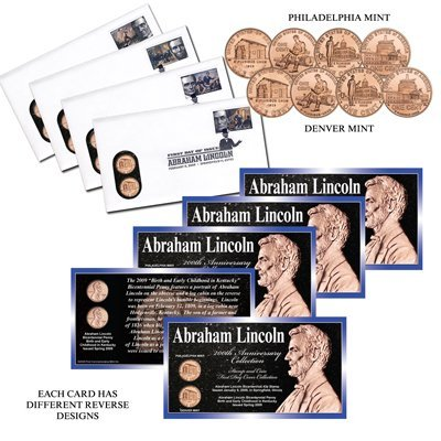 Abraham Lincoln First Day Cover Coin and Stamp Set -