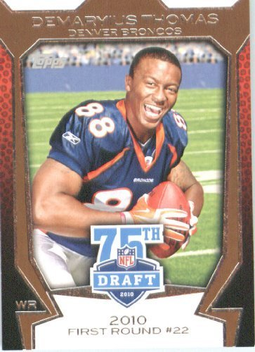 2010 Topps Football Rookie Card #75DA-14 Demaryius Thomas Mint