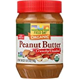 Field Day Peanut Butter Organic Crunchy Unsalted, 12 Count