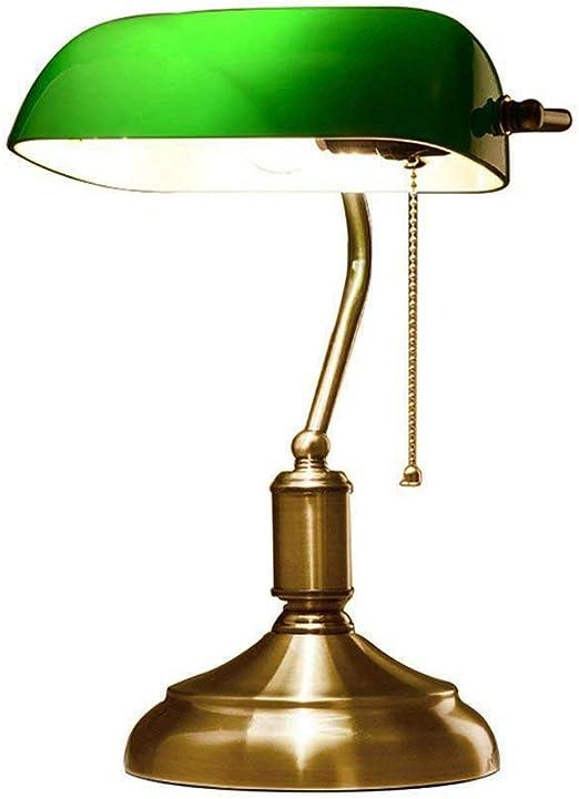 Lámpara De Mesa Interruptor Vaivén Vintage Banqueros Lámpara ...