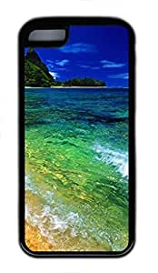 blue sea Custom Personalized Design DIY Back Case for iPhone 5C TPU Black