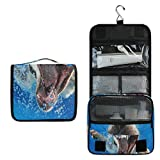 Travel Hanging Toiletry Bag Teaches Dogs Swim Swimming Cosmetic, Makeup and Toiletries Organizer   Compact Bathroom Storage   Home, Gym, Airplane, Hotel, Car Use