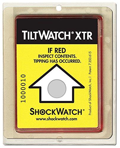 ShockWatch TiltWatch XTR Impact Indicators, 10-pack
