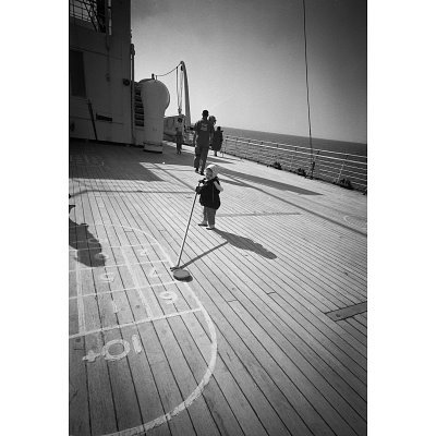(11x17) Shuffleboard Archival Photo Poster Print