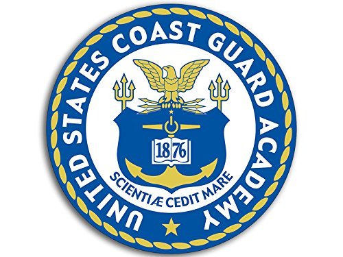 Round United States Coast Guard ACADEMY Seal Sticker (military uscg - Guard Coast Bumper Stickers