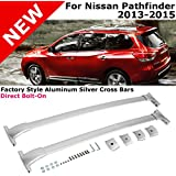 For Nissan Pathfinder 2013-2015 Silver Roof Top Rack Rail Cross Bar Luggage Carrier 2013 2014 2015 13 14 15