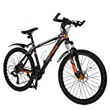 "Image of 26"" Mountain Bike with Speedometer, OMAAI 27 Speed Bicycle with Alloy Wheels and Full Suspension"