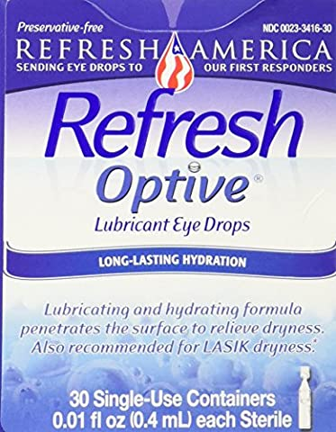 Refresh Optive Lubricant Eye Drops, 30 Single-Use Containers (Refresh Contacts)