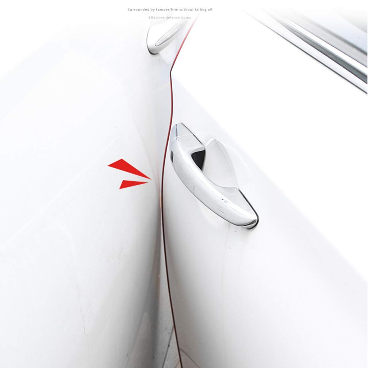 FXF998 car Door Edge guards-19FT 6M Electroplated red No Glue Needed Door Trim U-Shaped Trimming Plated Smooth Rubber Seal Protection for Most Cars