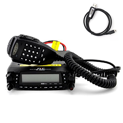 Original TYT Ham Car Mobile Radio Transceiver Dual Band TH9800 with Programming Cable For Sale