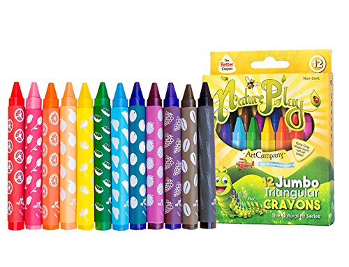 (NaturePlay Jumbo Triangular Crayons 12 Count)