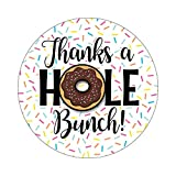 2.5'' Set of 36 Stickers Doughnut Thank You Labels - Sprinkle Donut Party - Thanks a Hole Bunch