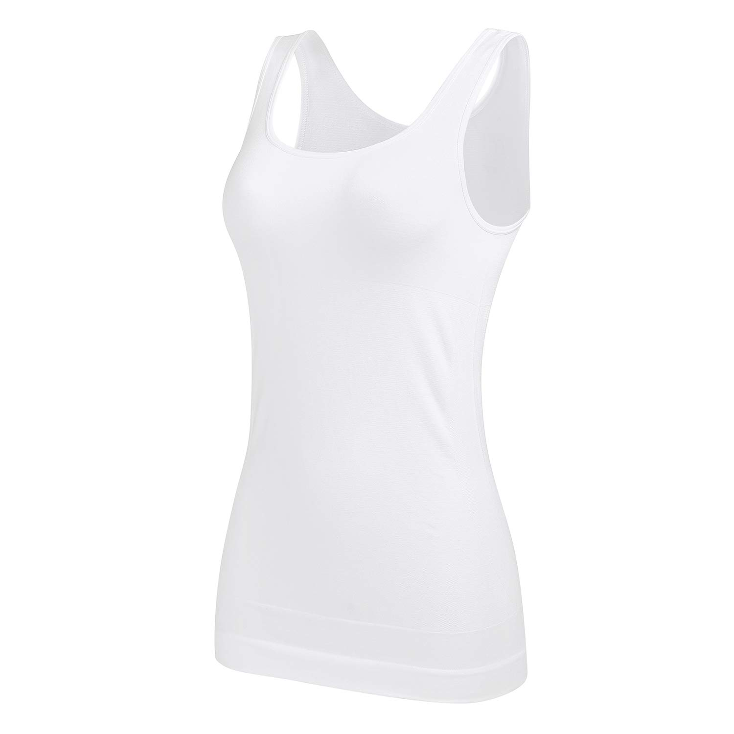 Womens Shapewear Tank Tops Plus Size Firm Tummy Control Cami Seamless Slimming Shaping Tops