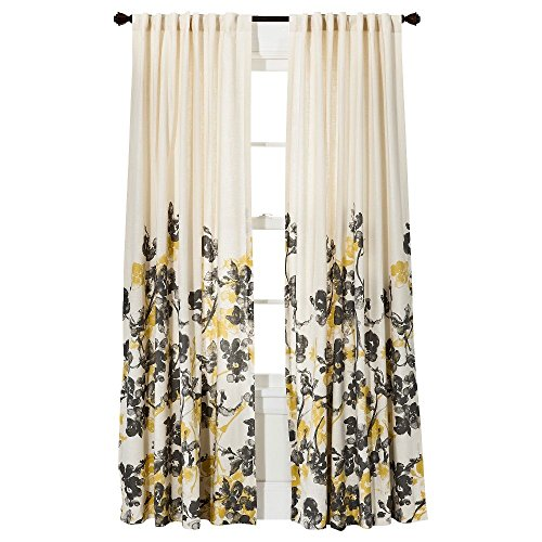 Threshold Climbing Vine Window Curtain Panel, Golden Mist, 54