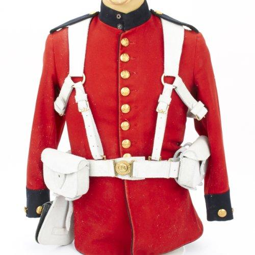[British Victorian Era Pattern 1871 Valise Equipment in Buff White Leather] (Victorian Era Mens Costumes)