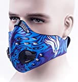Cycling Mask, MoHo Dustproof Mask Half Workout Mask Activated Carbon Filtration Dust Exhaust Gas Anti PM2.5 Pollen Allergy for Running, Training, Fitness and More Outdoor Sports