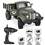 TradeOne RC Military Truck Radio Control 1/16 All Terrain Remote Control Military Truck 2.4Ghz 4WD RTR Controller Electric RC Off Road Trucks Vehicle Rechargeable Batteries Great Gift for Kids Boys