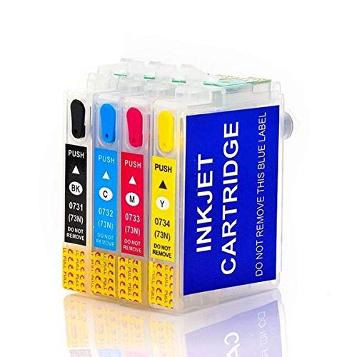 Dreams Cartridge Refillable Empty Cartridges 73N for All Epson Printer TX210/T13/TX121 with Auto Reset Chip