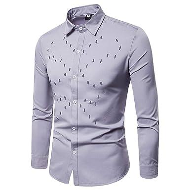 WanYangg Camisas Hombre, Juveniles Elegantes Camisa De ...