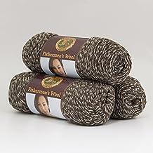 (3 pack) Lion Brand Yarn 150-201 Fishermen's Wool, Maple Tweed