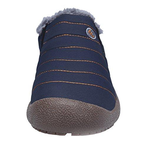 Botas Libre Fur Al Hombre Botines DAFENP Botas Azul Zapatos Calentar de Boots Invierno Nieve Aire qStx70